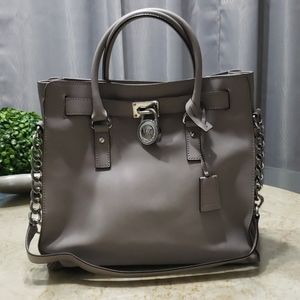 Michael Kors Gray Leather Hamilton